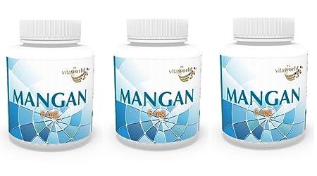 3er Pack Vita World Mangan 6mg 360 Vegi Kapseln Apotheken Herstellung