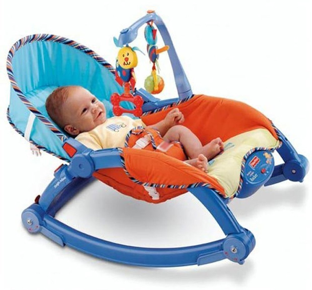 Baby rocking chair - Saffire Newborn To Toddler Portable Rocker Multi Color