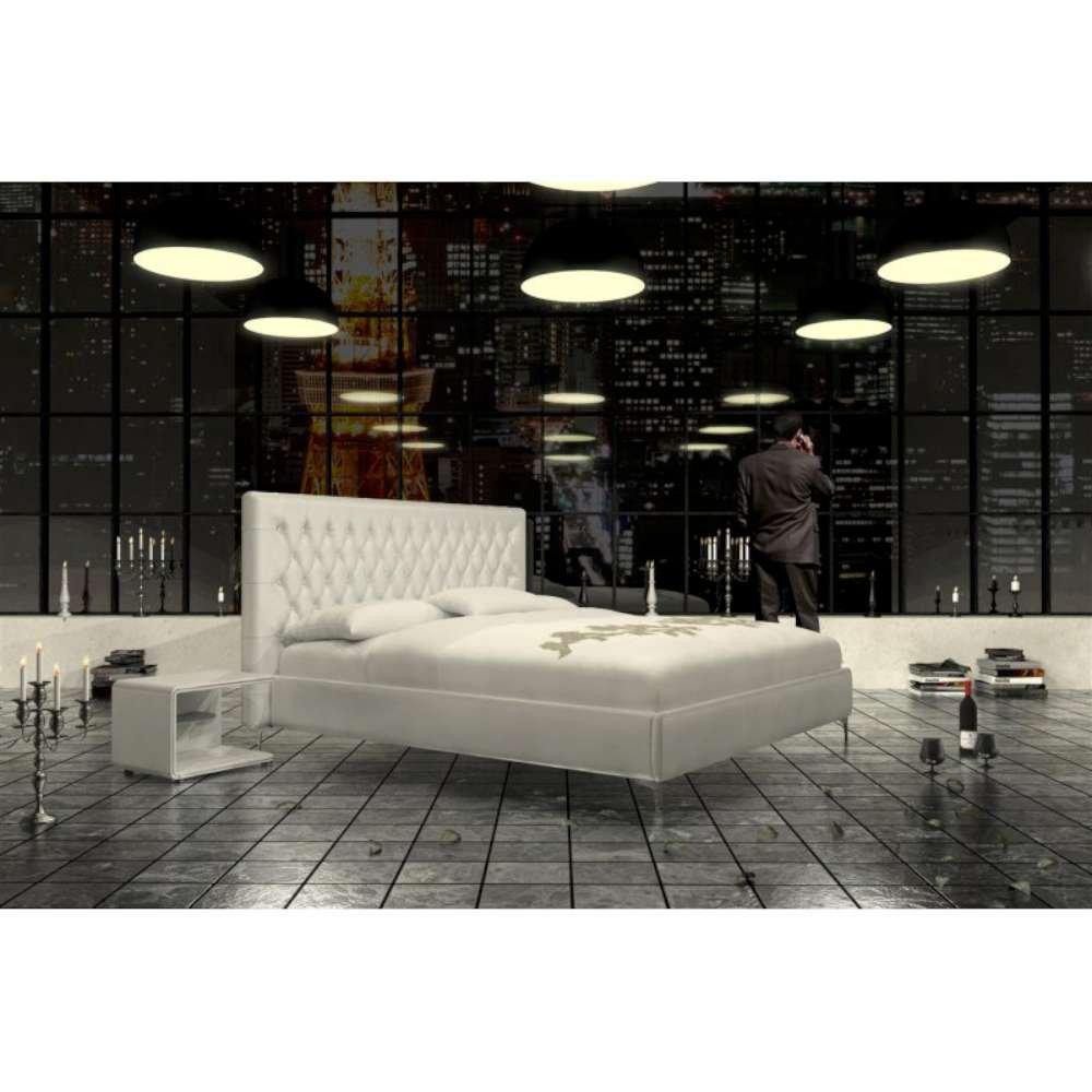 JUSThome Ancona Weiss Polsterbett Ekoleder Größe 140×200 cm günstig bestellen