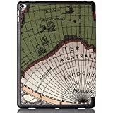 "New IPad 2017 9.7"" Inch A1822 / A1823 Case ( Vintage WORLD-MAP ) Ultra Slim Lightweight PU Leather Magnetic Smart Folio Flip Case Flip Cover For Apple New IPad 9.7 Inch (2017 Launched) Flip Cover Case (Map - Green)"