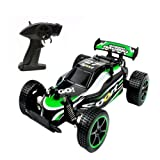 RC Cars 1:20 Scale High Speed Remote Control Car 2.4 GHz Off Road Fast Racing Drifting Buggy Hobby Car 2WD Electric Vehicle for Kids Boys (Green)