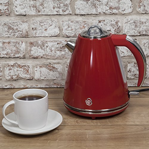 Swan Jug Kettle, 1.5 Litre, 3000 W, Red