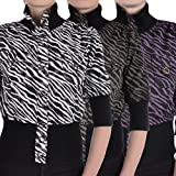 Miss Posh Womens Cropped 3/4 Sleeve Buttoned Zebra Print Bomber Jacket