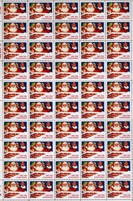 Santa Claus And Chimney Christmas 50 x 29 Cent US Postage stamps Scot #2579