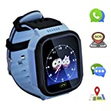 Kids smartwatch with Call and Location Tracking, Emergency SOS Alarm System, Compatible with iOS/Android System, Children's Christmas or Birthday Gift Preferred, Suitable for boy (Blue) (Color: blue)