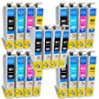 Compatible Epson Expression XP-322 Ink Cartridges 8X Black 4X Cyan 4X Magenta 4X Yellow (20-Pack)