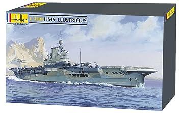 Heller - 81089 - Construction Et Maquettes - Hms Illustrious - Echelle 1/400ème