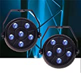 Solena Mini Par 9 9-Watt RGB LED Wash Light 2-Pack