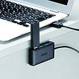 iBUFFALO USB3.0ハブ 4ポートセルフパワータイプ マグネット付き ブラック BSH4A08U3BK
