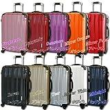 TSAロック搭載 スーツケース キャリーバッグ FK2100 ミラーQueendom オレンジ M型(4~7日用) Sサイズは、国内/国際線持込可能。