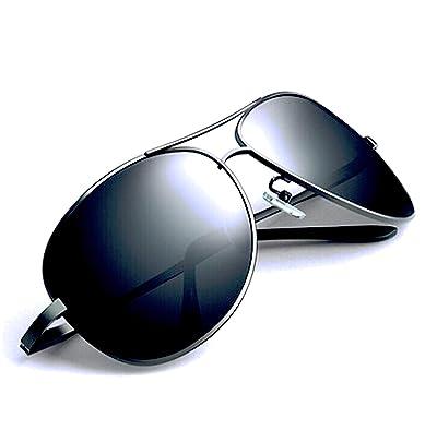 FREESE 偏光 ティアドロップ メンズサングラス クラシックデザイン UVカット