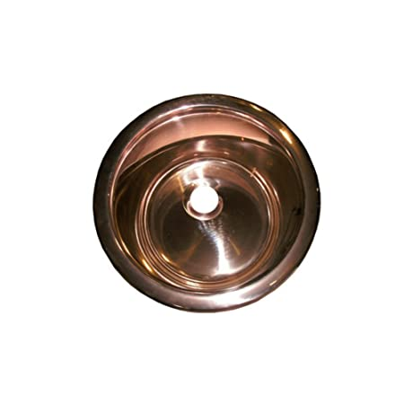 "13.8"" x 13.8"" Round Bar Sink, Finish: Copper Rose"