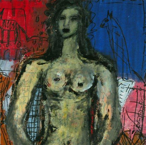 Sibilla salvare Maier - Original Dalbello acrilico quadro/carta foto - dipinto a mano pezzo unico in acrilico - Arte, stampa su - 50 x 50 cm donne ritratto