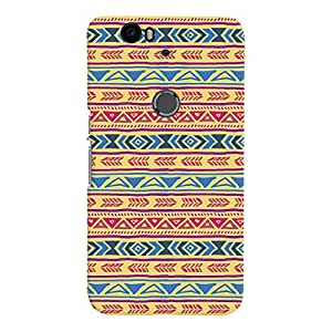 ColourCrust Huawei Google Nexus 6P Mobile Phone Back Cover With Indian Pattern - Durable Matte Finish Hard Plastic Slim Case