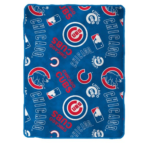 Mlb Chicago Cubs Royal Plush Throw, 50 X 60 Inches back-903295