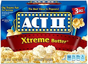 Act II Popcorn Extreme Butter 3 Count Box Pack of 12