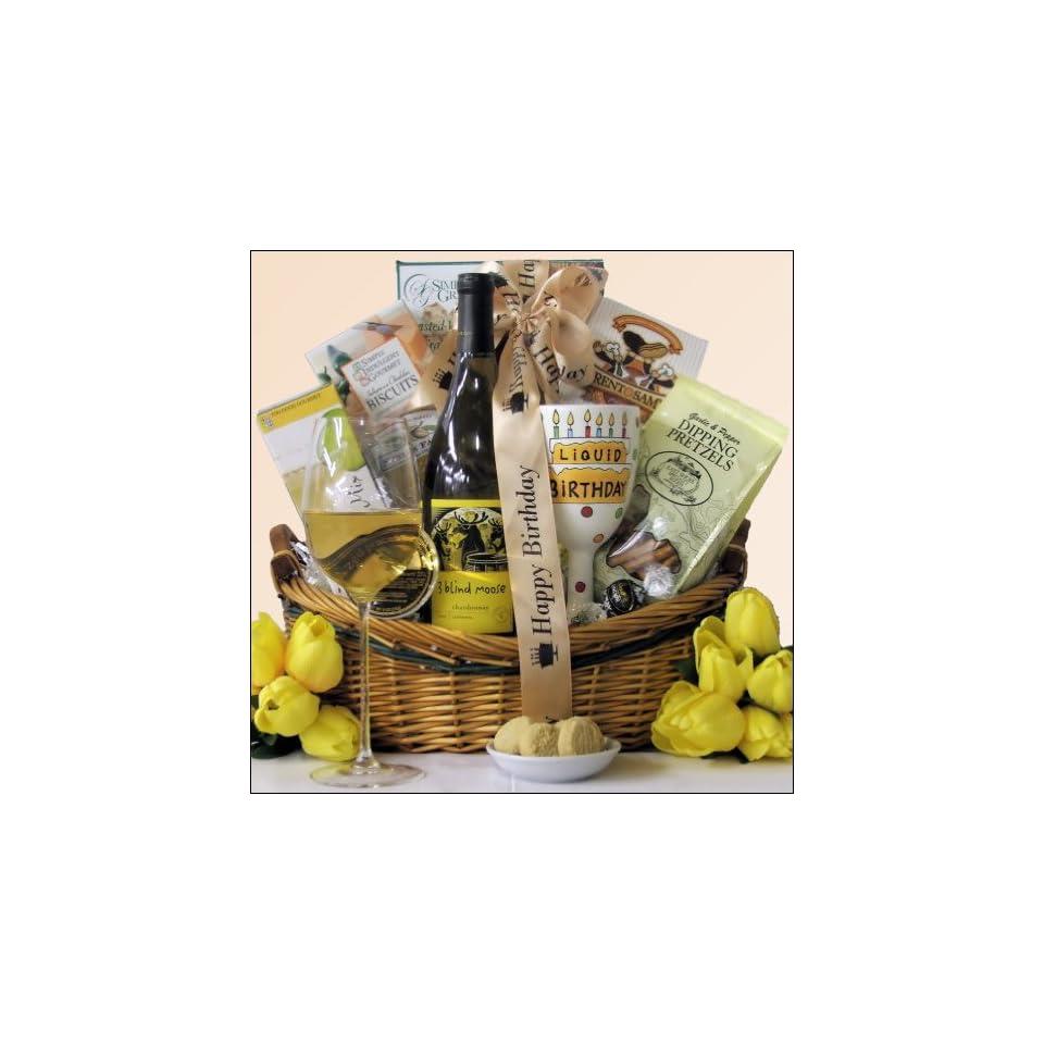 3 Blind Moose Chardonnay Happy Hour Birthday Wine Gift Basket