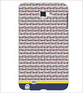 PrintDhaba Owl Pattern D-1668 Back Case Cover for SAMSUNG GALAXY NOTE 1 (Multi-Coloured)