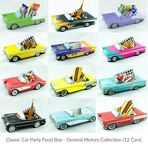12 Classic Car Party Food Boxes - GM Collection (Classic Car Birthday compare prices)