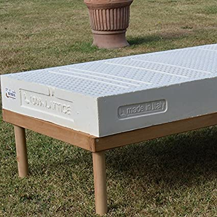 Naturel Latex H17 Matelas H17 cm amovible, 100% latex Naturel a zones Tissu Coolmax grand lit 180x200