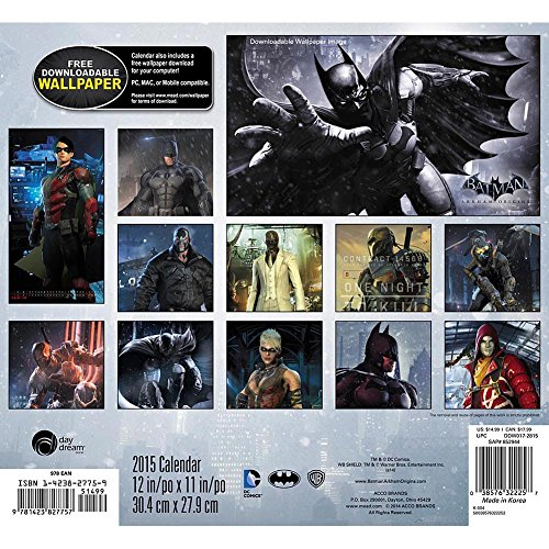 Calendar Wallpaper Program : Batman arkham origins wall calendar software digital