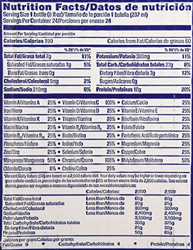 Glucerna nutrition facts nutrition ftempo for Wahoo s fish taco menu nutrition