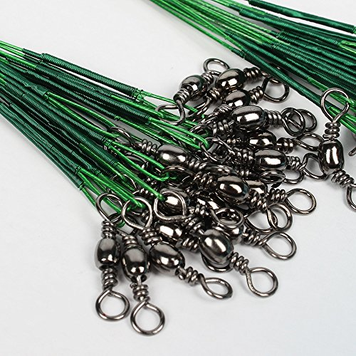 Pisfun fishing leaders stainless steel wire leaders nylon for Steel fishing leader