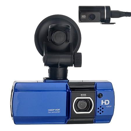 Foxnovo AT580 écran LCD de 2,7 pouces 148 degrés grand Angle double lentille FHD 1080p H.264 voiture DVR avec G-sensor /HDMI /TF Slot (Bleu)