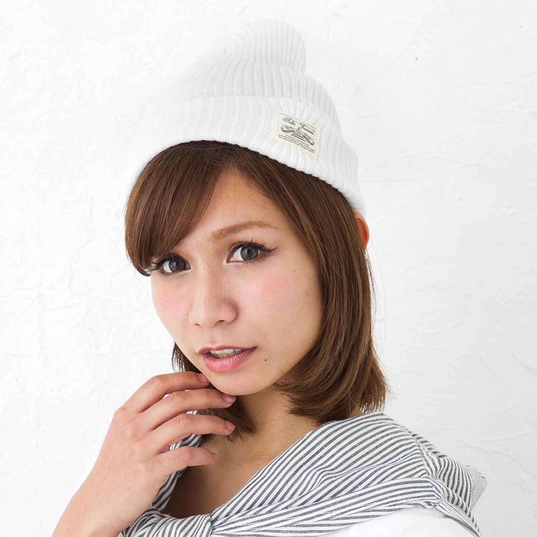 Amazon.co.jp: (JOIN・K)コットン100%で夏も快適!タグ付き ニット帽 ワッペン ラベル ネームタグ リブ ワッチ キャップ ビーニー メンズ レディース 男女兼用 MIXカラー ホワイト: 服&ファッション小物
