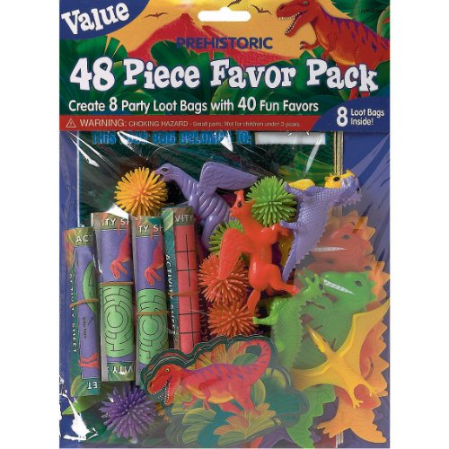 Prehistoric Dinosaurs Favors Value Pack, 48pc.