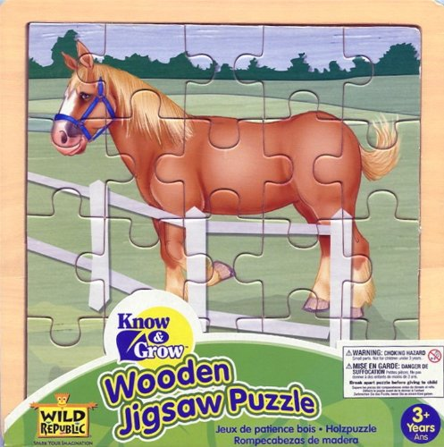 Image of Wooden Jigsaw Puzzle - Horse