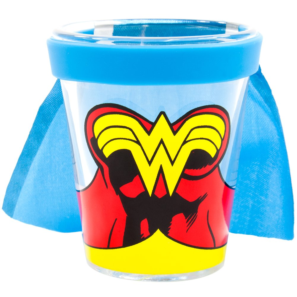 Wonder Woman Shot Glass With Cape