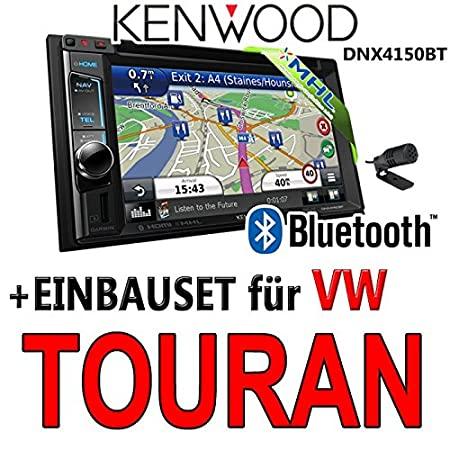 Kenwood pour vW touran dNX4150BT 2-dIN navigationsradio uSB mHL kit de montage d'autoradio