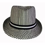 Striped Crushable Fedora 50s Style Hat 60s Style Hat 24438