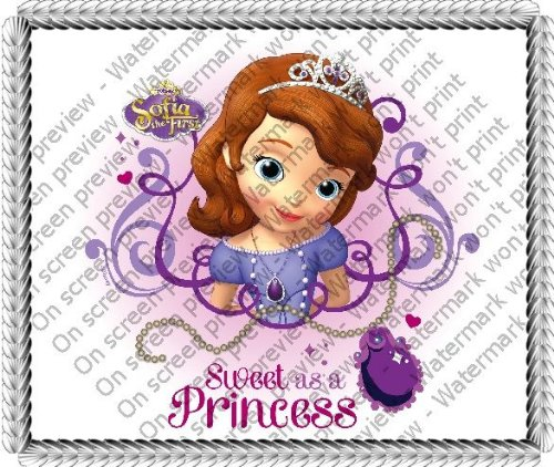 "8"" ~ Disney Princess Sofia the First Birthday ~ Edible Image Cake/Cupcake Topper!!! - 1"
