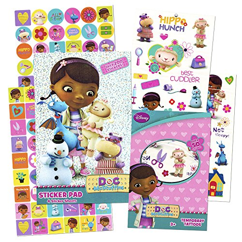 Doc McStuffins Stickers & Tattoos Party Favor Pack (200 Stickers & 50 Temporary Tattoos)