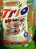 Mrs. May's Naturals Trio 12 Each Strawberry; 12 Blueberry; 12 Cranberry (36 Individually Wrapped Bars/bag) (Bag of 2)