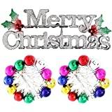 Pragati Pro Christmas Tree Ornament Decoration Combo - 1 Merry Christmas Wall Hanging And Pack Of 24 Multicolor...