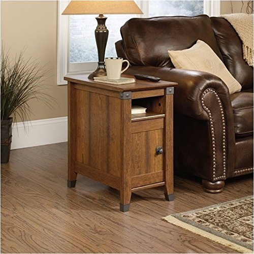 sauder-carson-forge-side-table-washington-cherry-finish