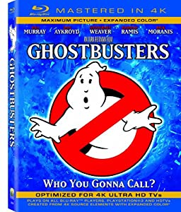 Ghostbusters  (Mastered in 4K) (Single-Disc Blu-ray + Ultra Violet Digital Copy)