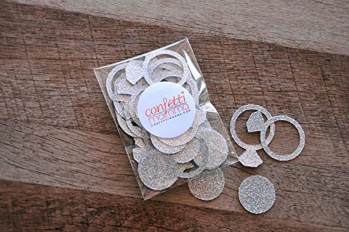 Engagement Ring Confetti. 2 Packs (40ct each). Bachelorette Party Decorations. Bridal Shower Decor.