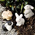 Miniature Fairy Garden Herd of Bunnies, Set of 4