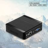 XCY Mini PC Computer Intel Celeron N2920 Qual Core Wifi USB3.0 (4G Ram 128G Ssd Wifi, N2920)