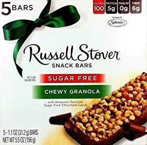 Russell stover sugar free chewy granola snack for Food bar russell