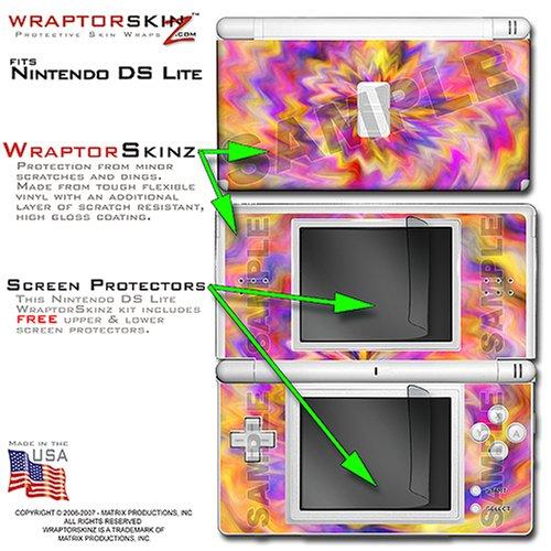 Nintendo DS Lite Tie-Dye Pastel WraptorSkinz Skin Kit by TuneTattooz TM