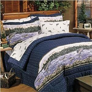 amazon com trout lake fishing decor bedding set