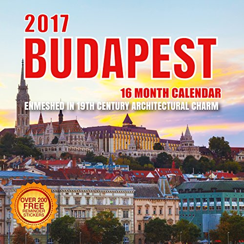 2017 Budapest Calendar - 12 x 12 Wall Calendar - 210 Free Reminder Stickers (Hotel Budapest Soundtrack compare prices)