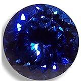 Lab Sapphire Round Brilliant Loose Unset Gem (4mm, deep blue) (Color: deep blue, Tamaño: 4mm)