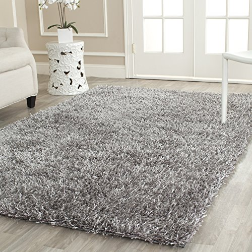 Safavieh New Orleans Shag Collection SG531-8080 Grey Polyester Area Rug, 2 feet 6 inches by 4 feet (2'6