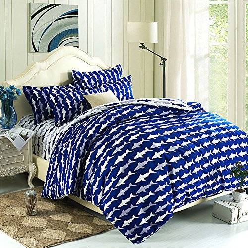 Ocean Shark Kids Duvet Cover Set